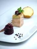 Terrine of grilled duck Foie Gras Stock Photo
