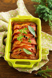 Terrine of meat. And chicken liver Royalty Free Stock Photo