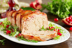 Terrine of meat. And chicken liver Stock Images