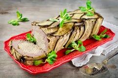 Terrine - potrawka mięso, warzywa i makaron, Obrazy Royalty Free