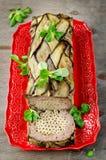 Terrine - potrawka mięso, warzywa i makaron, Zdjęcia Royalty Free