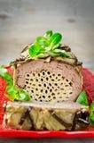 Terrine - potrawka mięso, warzywa i makaron, Obrazy Stock