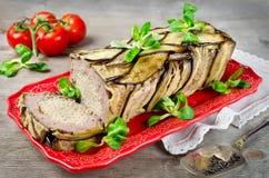Terrine - potrawka mięso, warzywa i makaron, Obraz Stock