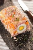Terrine. With ham, egg, carrot and horseradish Royalty Free Stock Images