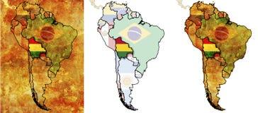 Território da bandeira de Bolívia Imagens de Stock
