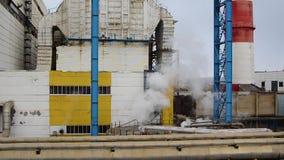 Território da facilidade industrial estação do Calor-poder O vapor adicional sae da válvula filme