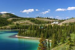 Território de yukon do lago emerald imagem de stock