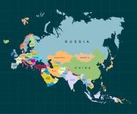 Território do continente de Ásia Fundo escuro Ilustração do vetor ilustração royalty free