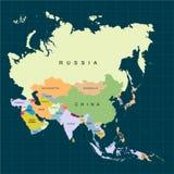 Território do continente de Ásia Fundo escuro Ilustração do vetor ilustração stock