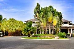 Território do hotel Catalonia Bavaro real na República Dominicana Imagens de Stock