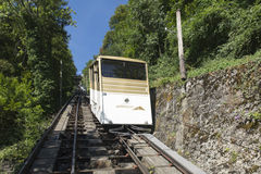 Territet–Glion funicular, Switzerland Royalty Free Stock Images