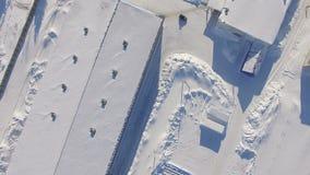 Territoire d'entreprise de gaz de vue panoramique avec des bâtiments banque de vidéos