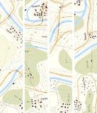 Territoire vertical réglé de carte topographique de bannière avec des titres Image stock