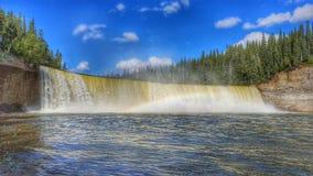 Territoires du nord-ouest du ` s de Madame Evelyn Falls In Canada photo libre de droits