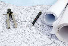 Territorialer Plan Lizenzfreies Stockbild