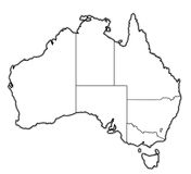 Territories on map of australia Stock Photos