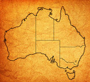 Territories on map of australia Royalty Free Stock Images