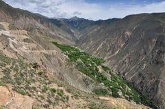 Territoriet av den Tibet Nu floden Royaltyfria Bilder