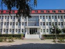 Territoriet av sanatoriet Vita nära den ryska staden av Anapa i den Krasnodar regionen Arkivbilder