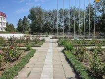Territoriet av sanatoriet Vita nära den ryska staden av Anapa i den Krasnodar regionen Royaltyfri Bild