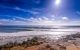 Territorio comunale della spuma di Taghazout, Agadir, Marocco 2 Fotografia Stock