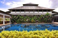 Territorio del hotel Cataluña Bavaro real en la República Dominicana Fotografía de archivo