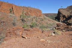 Territorio del Nord ad ovest Australia del parco nazionale di MacDonnell della gola di Ormiston fotografie stock libere da diritti
