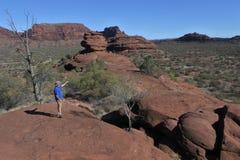 Territorio del Nord del parco nazionale della gola di Finke dell'Australia fotografia stock libera da diritti