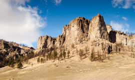 Territorio del noroeste pacífico de las tierras de labrantío del valle de los peñascos de los acantilados Fotos de archivo