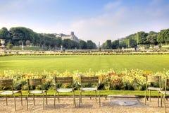 Territorio del parque del palacio de Luxemburgo Imagenes de archivo