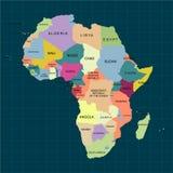 Territorio dell'Africa con il contorno ed il colore isolato del paese Illustrazione di vettore royalty illustrazione gratis