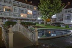 Territorio dell'hotel (territorio di Caletta della La dell'hotel, Alcossebre, Spagna) fotografia stock