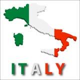 Territorio dell'Italia con struttura della bandierina. Fotografie Stock Libere da Diritti