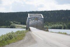 Territorio dello Yukon Canada del lago Teslin Fotografia Stock Libera da Diritti