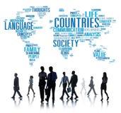 Territorio International Concept de la sociedad de la nación de los países Fotografía de archivo libre de regalías