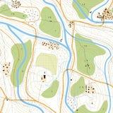 Simboli della mappa nel giallo illustrazione vettoriale for Programma della mappa della casa