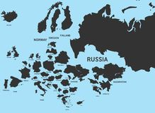 Territorios del país de Europa Imagen de archivo