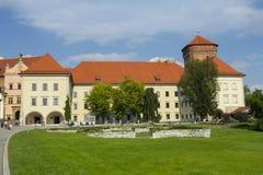 Territorium av den Wawel slotten Arkivfoton
