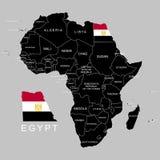 Territorium av Egypten på den Afrika kontinenten också vektor för coreldrawillustration vektor illustrationer