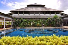Territorium av hotellet Catalonia kungliga Bavaro i Dominikanska republiken Arkivbild