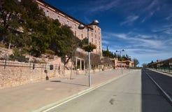 Territoriya Monastyr Montserrat (Monasterio de Montserrat) Spai Obrazy Stock