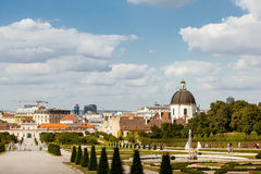 Territory of Belvedere Palace Stock Photos