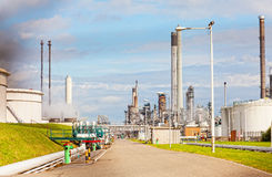 Territory of big oil refinery Stock Photo