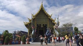 On the territory of the Buddhist temple Wat Rong Sear Tean. Chiang Rai, Thailand