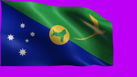 Territory of Christmas Island, Flag of Christmas Island - LOOP Royalty Free Stock Photography