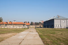 Territory of the concentration camp. NIS, SERBIA: Territory of the Crveni Krst concentration camp established during the Second World War . Nis is the third Royalty Free Stock Images