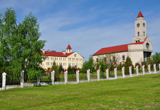 The territory of the convent in Baranovichi Stock Photography