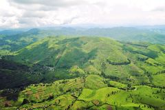 The territory of the Democratic Republic of the Congo from the height of the bird`s eye stock photo