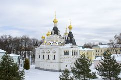 Territory of Dmitrov Kremlin Moscow region winter background stock photos