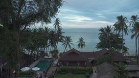 Territory of the evening hotel Impiana Resort Chaweng Noi. Koh Samui Island, Thailand - June 26, 2017: Territory of the evening hotel Impiana Resort Chaweng Noi stock video